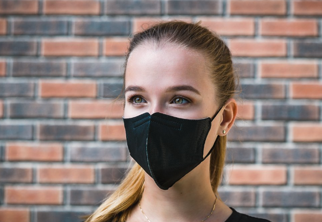 Face Mask on Young Woman